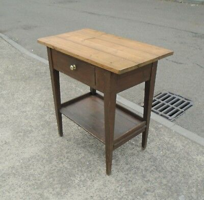 Antique Rustic / Primitive Pine Hall Table / Side Table   Delivery Available