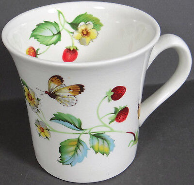 James Kent Old Foley Butterflies Coffee Mug Cup Vintage England Strawberries