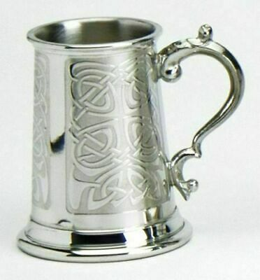 Pewter Childs Christening Celtic Tankard