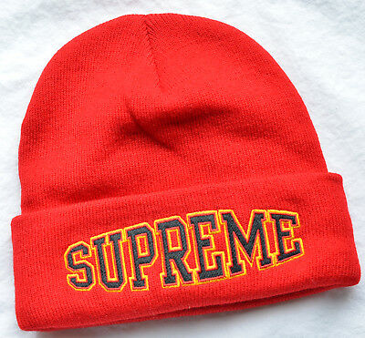 5b9a6360a SUPREME HAT RUBBER patch beanie black with red logo, nwt - $39.10 ...