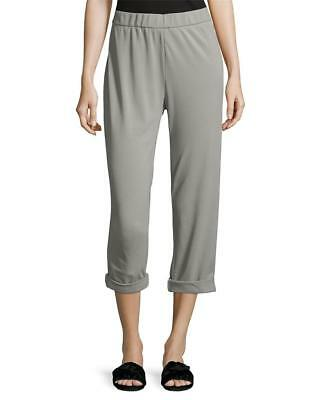 Brand New! $195 James Perse Cotton Jersey Pullon Ankle Pants Grey Size 2(S)