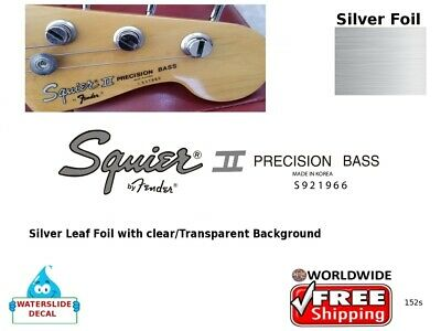 Squier Precision Bass Guitar Decal Headstock Decal Restoration Logo 152s