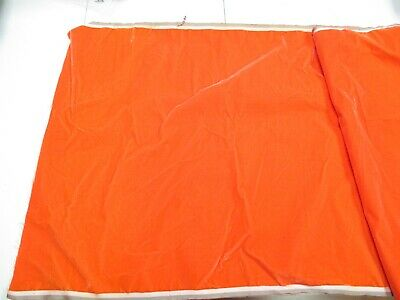 Antique Victorian Silk and Cotton French Velvet Remnant Orange