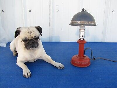 Antique Vintage Desk Table Lamp with Metal Shade