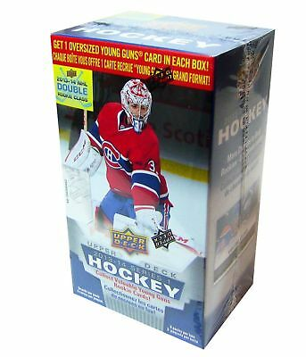 2013-14 Upper Deck Series 1 Blaster Box hockey cards with Oversized Card