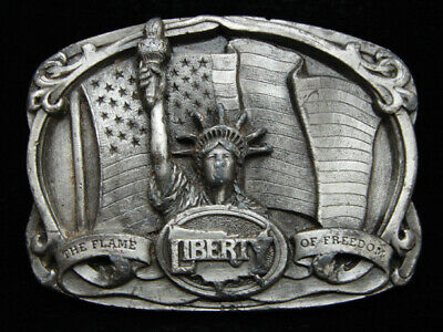 Oh15104 Vintage 1985 **Statue Of Liberty The Flame Of Freedom** Bergamot Buckle