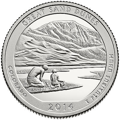 2014 S Silver Proof America The Beautiful Great Sand Dunes 90% Silver Quarter