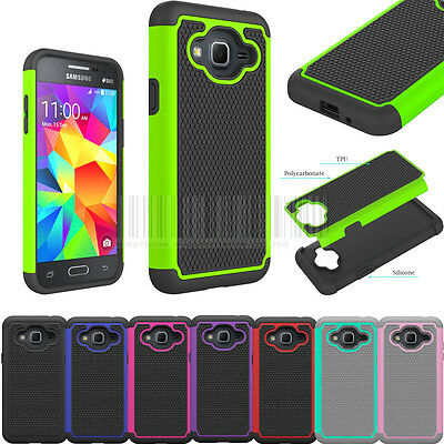 For Samsung Galaxy Sky Rugged Hybrid Armor Case Shockproof Tough Rubber Cover