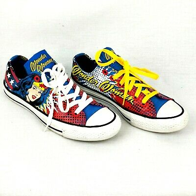 ac73573e0eeb Converse Chuck Taylor All Star DC Comics Wonder Woman 131719F Women s 7  Mens 5