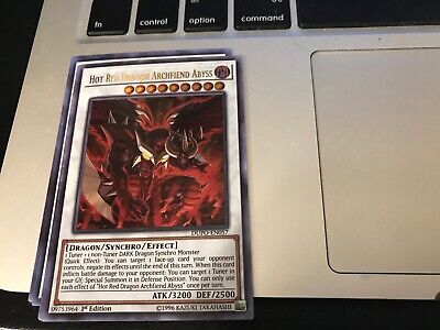 YUGIOH - Hot Red Dragon Archfiend Abyss - Ultra Rare - DUPO -1st ed - NM