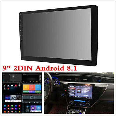 "9"" 2Din Quad Core Android 8.1 Car Stereo GPS Navi Radio WiFi BT RAM 2GB ROM 32GB"