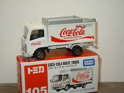 Isuzu Coca Cola Route Truck - Tomica 105 - 1:68 in Box *36717