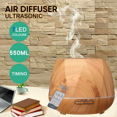 Ultrasonic LED Essential Oil Aroma Aromatherapy Diffuser Air Humidifier Purifier