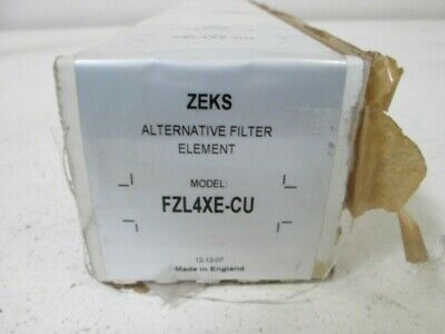 Zeks Fzl4Xe-Cu Premium Filter * New In Box *