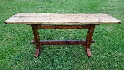 ANTIQUE STYLE WOODEN REFECTORY/CONSOLE TABLE. Traditionally made. Buyer collects