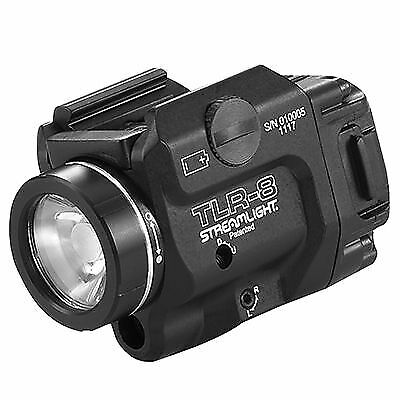 Streamlight TLR-8 Tactical Weapon Light w/Laser Sight, Rail Mounted, 500 : 69410