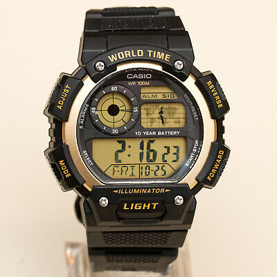 MONTRE NEUF CASIO AE 1400WHD 1AV 10 Ans 1 Pile Acier Homme  8l3gD