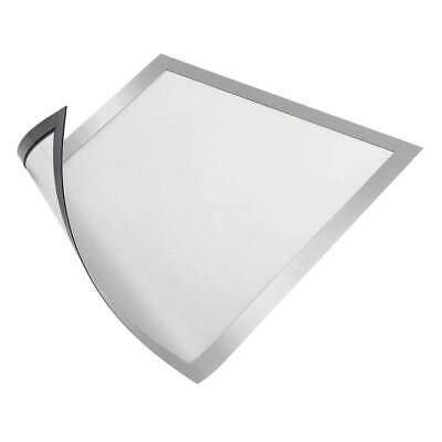 "DURABLE Sign Holder,8-1/2"" x 11"",PVC,PK2, 477123, Silver"