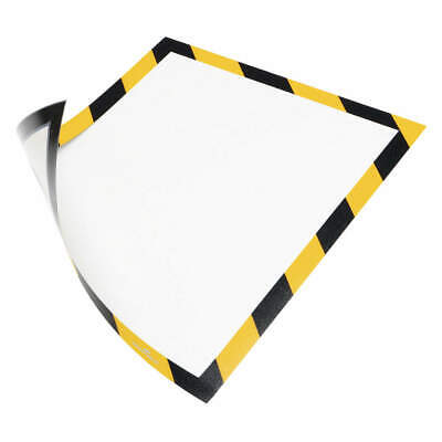 "DURABLE Sign Holder,8-1/2"" x 11"",PVC,PK2, 4772130, Black/Yellow"
