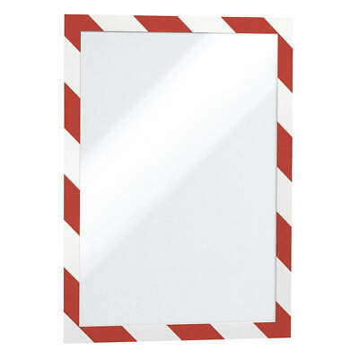 "DURABLE Sign Holder,8-1/2"" x 11"",PVC,PK2, 4770132, Red/White"