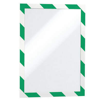 "DURABLE Sign Holder,8-1/2"" x 11"",PVC,PK2, 4770131, Green/White"