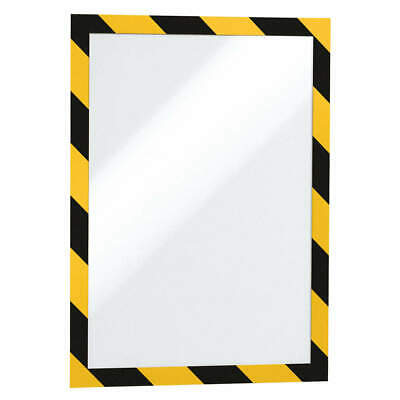 "DURABLE Sign Holder,8-1/2"" x 11"",PVC,PK2, 4770130, Black/Yellow"