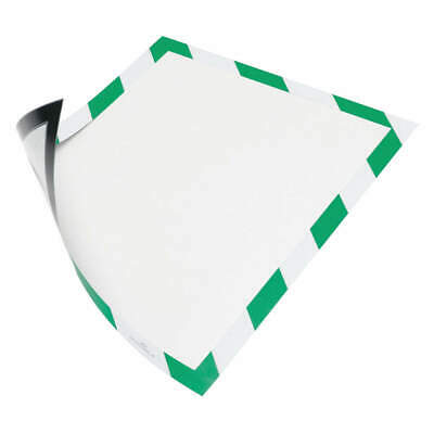 "DURABLE Sign Holder,8-1/2"" x 11"",PVC,PK2, 4772131, Green/White"