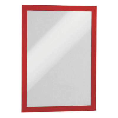 "DURABLE Sign Holder,8-1/2"" x 11"",PVC,PK2, 476803, Red"