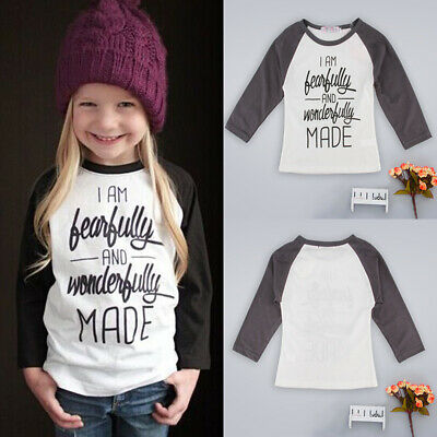 Fashion Toddler Kids Baby Girl Puff Long Sleeve Tops Clothes T-shirt Tee Tops