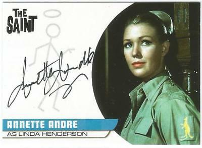 The Saint Series 1 Trading Cards Auto Card AA4 Annette Andre as Linda Henderson