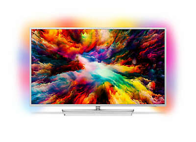 "Philips 50PUS7363 50"" Zoll 126 cm Smart TV 4K Ultra HD Ambilight Silber"