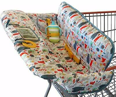 2-in-1 Baby Shopping Grocery Cart Cover&Baby High Chair Cover For Baby Girl Boys