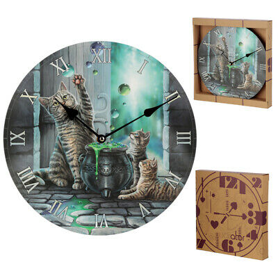 Lisa Parker Hubble Bubble Cat & Kitten Picture Wall Clock BNIP