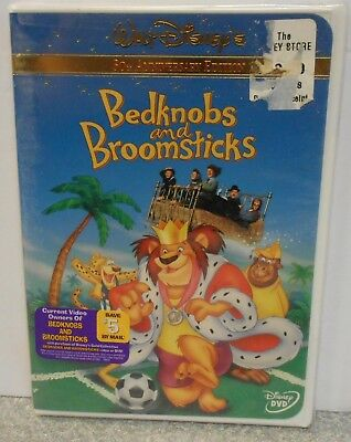 Bedknobs and Broomsticks (DVD 2001 30th Anniversary ) DISNEY NEW W BUENA STAMP