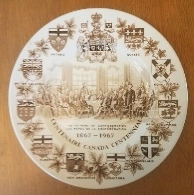 Canada Collector Plate Centennial 1867 - 1967 Wood & Sons England Ironstone