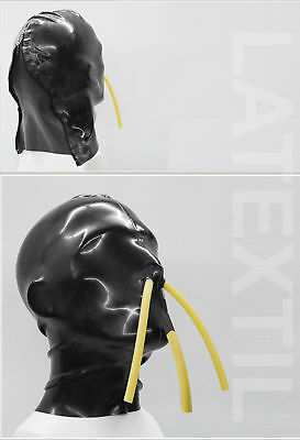 ---- LATEXTIL ---- Latexmaske MouthNoseTube - mask masque rubber latex - NEW