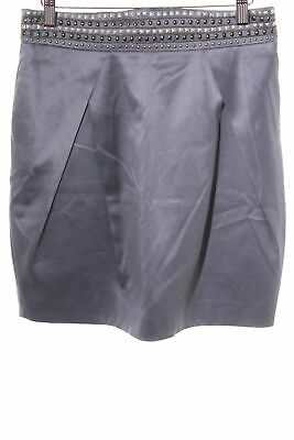 LUCY PARIS Ballonrock silberfarben Business-Look Damen Gr. DE 42 Rock Skirt