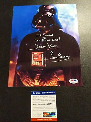Dave Prowse Signed PSA/DNA photo with quote!!  Autographed Rare Darth Vader 8x10