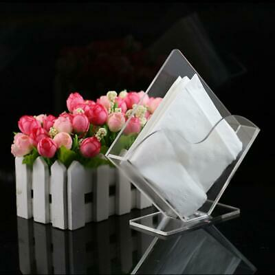 Paper Towel Box Acrylic Paper Towel Holder Vertical Napkin Holder Stand Clear