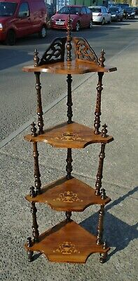 Antique Victorian 4 Tier Inlaid Wotnot     Repolished     Delivery Available