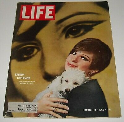 3/18 1966 LIFE MAGAZINE BARBRA STREISAND cover JULIUS CAESAR MISCEGENATION LAW