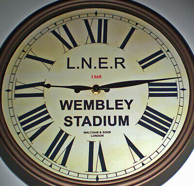 London North Eastern Railway LNER Style Clock, Wembley Stadium Station.