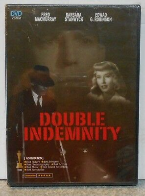 Double Indemnity (Dvd 2006) Rare 1944 Crime Drama Film Noir Brand New (Region 2)