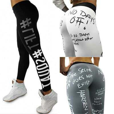 14c0d6c17ceb4 US Womens High Waisted Yoga Pants Print Compression Gym Leggings Fitness  Workout