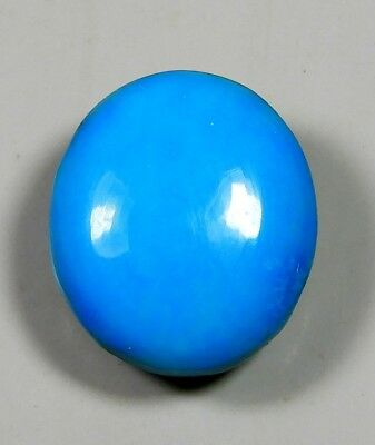 19Ct Natural Ring Size Sky Sleeping Beauty Turquoise Oval Cabochon Gemstone A162