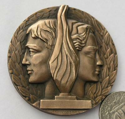 Nice French Sport Bronze medal by Maloubier.56mm