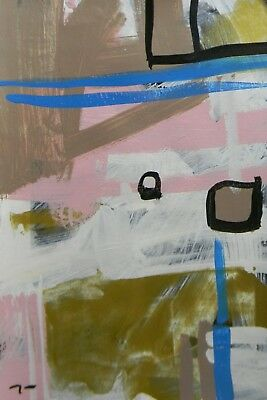 Jose Trujillo Contemporary Acrylic-Painting Modern Abstract Expressionist 12X18