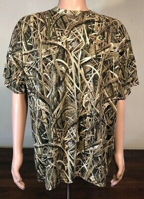079f5bbc Mossy Oak Camo Shadow Grass Blades T-Shirt 2XL Poly Blend Trees Hunting