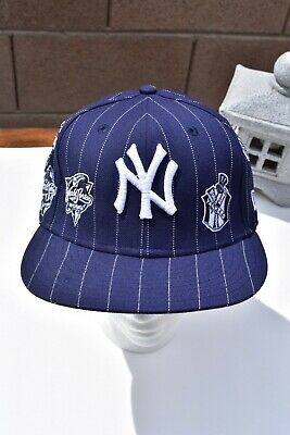 2c70238d534cf5 New York Yankees World Series logos NEW ERA 59Fifty MLB Navy Blue Hat  Fitted Cap