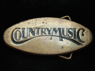 OI19159 VINTAGE 1970s **COUNTRY MUSIC** COMMEMORATIVE SOLID BRASS BARON BUCKLE